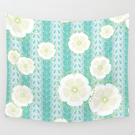 Kanzashi Willow - blues Wall Tapestry