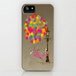 Love to Ride my Bike with Balloons even if it's not practical. iPhone Case