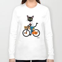 cycling Long Sleeve T-shirts featuring Summer cycling by BATKEI