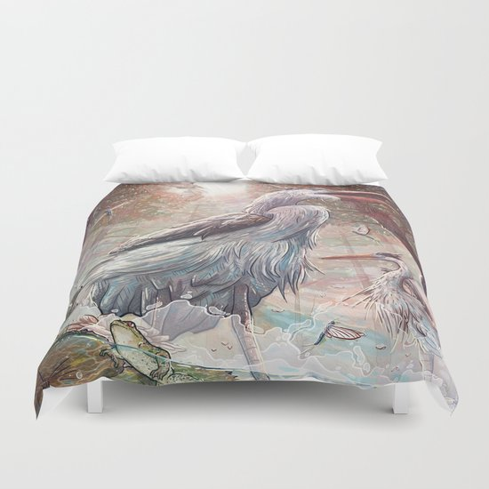 At the River Bend Duvet Cover