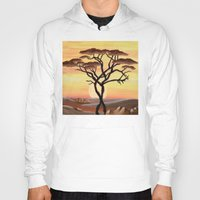 africa Hoodies featuring Africa by ArT RefugiuM