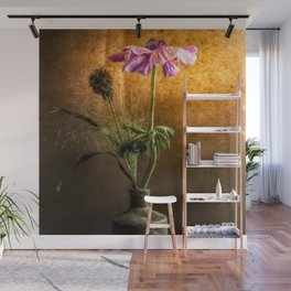 Flower in vase - oil painting by Brian Vegas Wall Mural