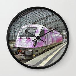 Berlin Electric Pink Wall Clock