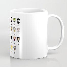 Horror Movies Alphabet Coffee Mug