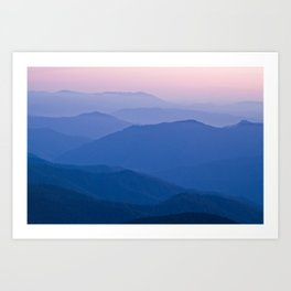 sunset palette Art Print