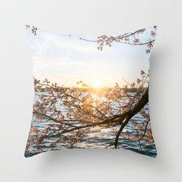 Sun Over the Horizon Throw Pillow