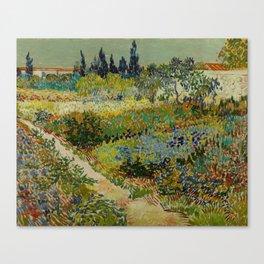 "Vincent van Gogh ""Garden at Arles"" Canvas Print"