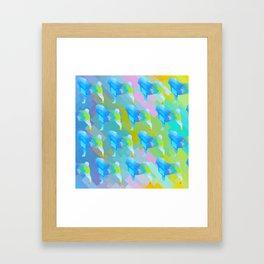 Pugs Pattern Framed Art Print