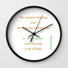 Forma mentis Wall Clock