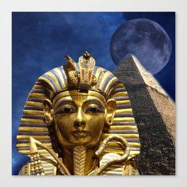 King Tut and Pyramid Canvas Print