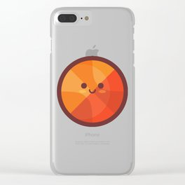 Cute Basketball Emoji Clear iPhone Case