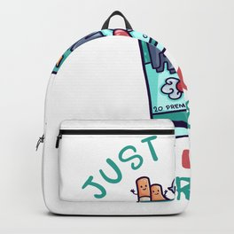 Just A Girl Who Loves Cigarettes box Backpack