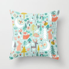 Forest Of Dreamers Throw Pillow
