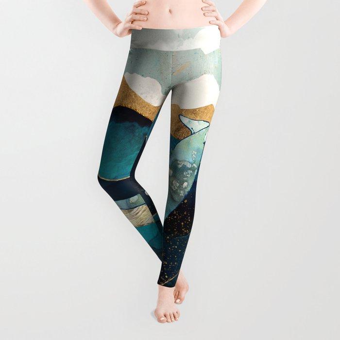 Blue Whale Leggings