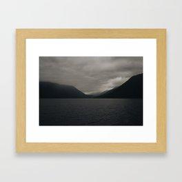 Moody Lake Framed Art Print