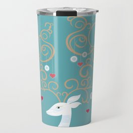 Christmas Deer (Turquoise)  Travel Mug