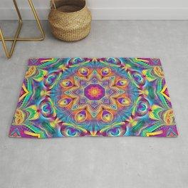Flower Of Life Mandala (Colorful Paradise) Rug
