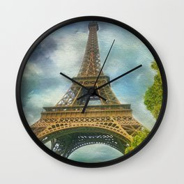 Eiffel Tower - La Tour Eiffel Wall Clock