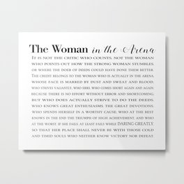 The Woman In The Arena Metal Print