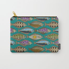 Alaskan halibut teal Carry-All Pouch