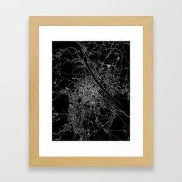 Vienna map Framed Art Print