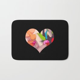 Deco Heart remix Bath Mat
