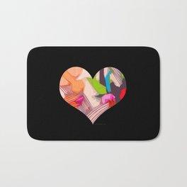 Deco Heart remix Bath Mat