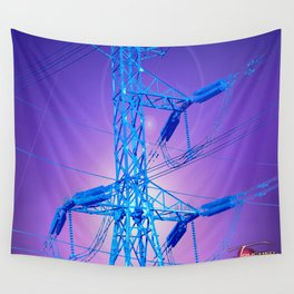 Ringing Blues Wall Tapestry