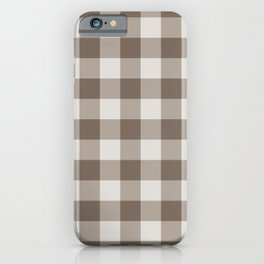 Buffalo Check Beige Cream Ivory Gingham iPhone Case