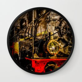 Old Timer Steam Train Wall Clock