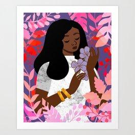 Violet in February Art Print