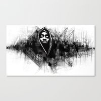 2pac Canvas Prints featuring 2Pac Illustration by Skillmatik by Mr Skillmatik