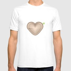 Love Nature Mens Fitted Tee White MEDIUM