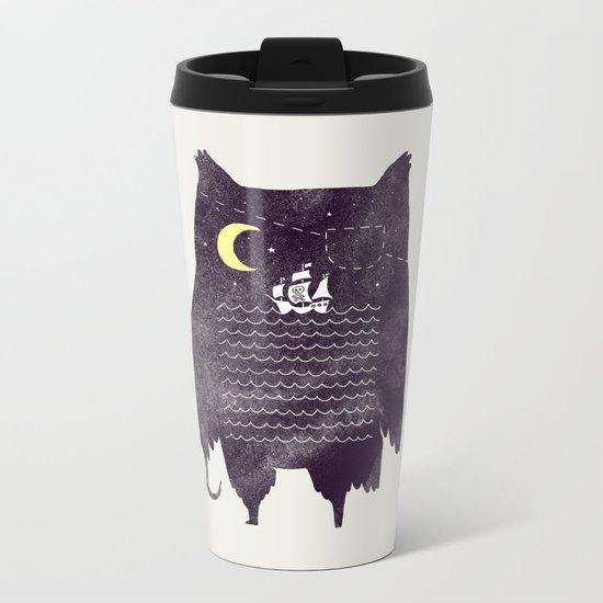 Pirate owl Metal Travel Mug