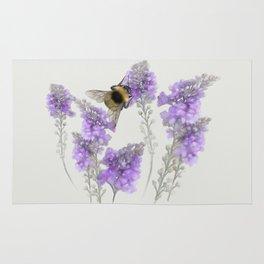 Watercolor Bumble Bee Rug