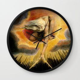 """William Blake """"Urizen depicted in Blake's watercoloured etching The Ancient of Days."""" Wall Clock"""