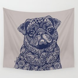 MANDALA OF PUG Wall Tapestry