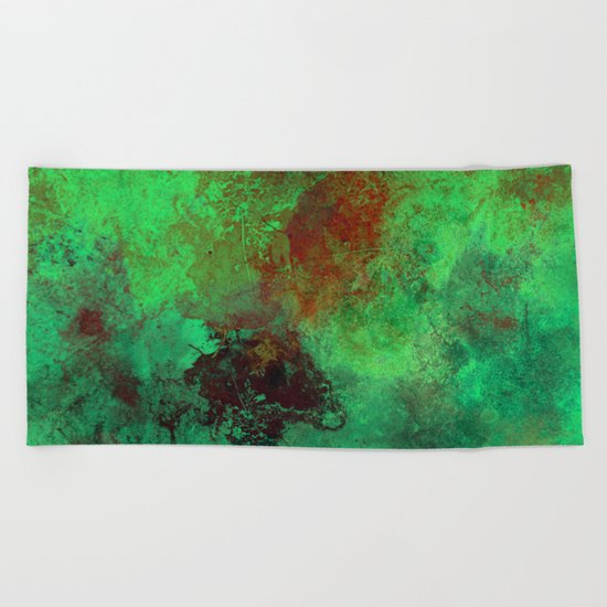 Isolation - Abstract, textured painting Beach Towel
