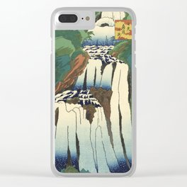 Japanese Woodblock - Waterfall - Utagawa Hiroshige Clear iPhone Case