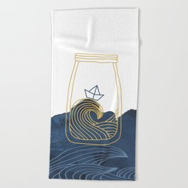 Bottled Sea Beach Towel