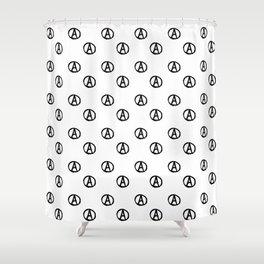 Symbol of anarchy bw 2 Shower Curtain