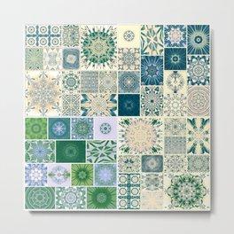 Spring pale Oriental rug Metal Print