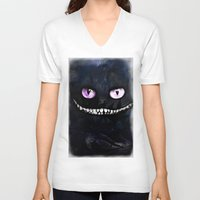 cheshire cat V-neck T-shirts featuring CHESHIRE by Julien Kaltnecker