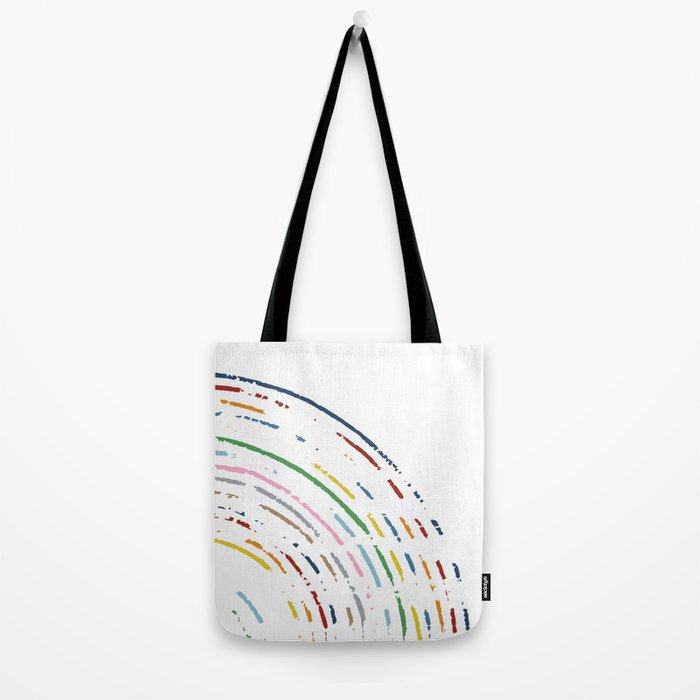 Rainbow Part Disc Tote Bag