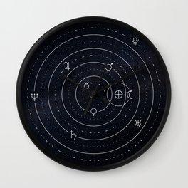 Planets symbols solar system Wall Clock