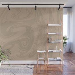 Pantone Hazelnut Abstract Fluid Art Swirl Pattern Wall Mural