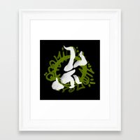 hiphop Framed Art Prints featuring Hiphop by Lydia Wingbermuhle