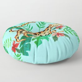 Cheetah's Hunt Floor Pillow