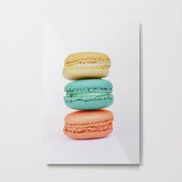 Stack of Macarons Metal Print