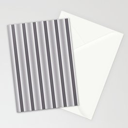 Gray Stripes Stationery Cards